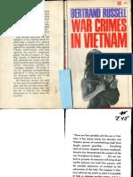 Bertrand Russell War Crimes in Vietnam 1967