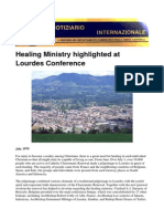 Healing Ministry highlighted at Lourdes Conference
