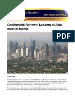 Charismatic Renewal Leaders of Asia meet in Manila