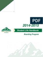 Boarding Program Student Life Handbook 2014-2015