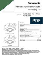 FV-08/11/15VQL6 Instruction Instructions