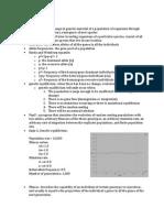 Biology 2 Lab Study Guide