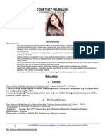 courtney wilsnagh cv creative media