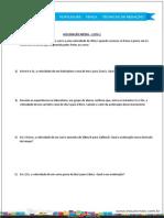 Aceleração Média - Lista 1 - Formatado