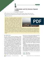 Urbanization Emission Income Level