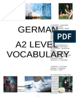 German Vocabulary List