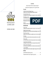 4 Olives Catering Menu 7-7-14