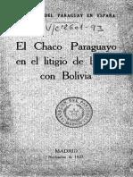 El Chaco Paraguayo en Litigio