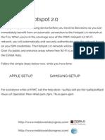 HotSpot 2.0 Experience - MWC2014 - Mobile World Congress 2014 -Passpoint - Apple - Samsung - Cisco