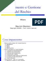 Abstract - Investimento e Gestione Del Rischio