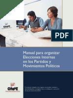 Manual Para Organizaciones Elecciones Internas en Partidos y Movimientos Políticos 2014