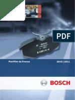 Catalogo Pastillas Fre No Bosch 2010