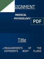 Physiology body Fluids