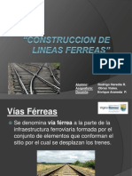Construccion de Lineas Ferreas
