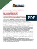 com0756, 020606 Reconocen a Eugenio Hernández por colocar a educación en posición de privilegio.