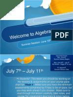 Algebra 1 Summer Session4