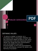 Values categorisation ppt