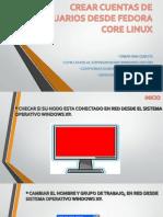 Crear Cuentas de Usuarios Desde Fedora Core Linux2