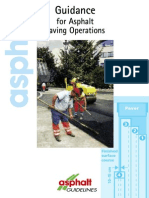 Guidance for Asphalt Paving Operations
