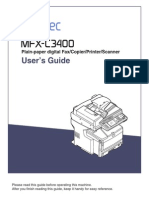 Muratec MFX-C3400 User Manual