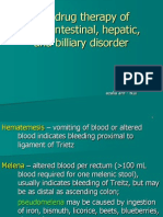 The Drug Therapy of Gastrointestinal, Hepatic,