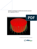 Analysis and Design of Reinforced Concrete Reservoir