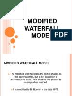 Modified Waterfall Method