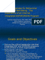 Leading Agendas for Behavioral Health and Well-Being