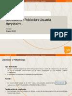 1, Adimark GIK, 2012, Satisfacción Población Usuaria Hospitales, Ministerio de Salud