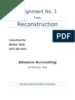 Company Reconstruction