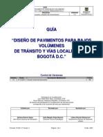 Gu-ic-019 Guia Diseno Pavimentos Para Bajos Volumenes v1