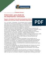 com0762, 100606 Eugenio Hernández, gran aliado de los empresarios