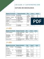 horario sociologia