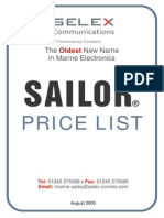 Sailor Price List[1]