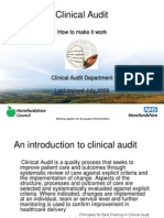 Introduction to Clinical Audit Self Directed v3