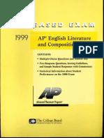 1999 AP English Literature Practice Test
