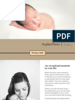 Newborn Pricing Guide SophiePhoto