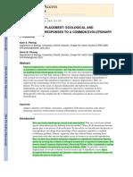 Pfennig&Pfennig 2009. Character Displacement