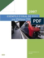 Exemple de Texte Oral Pduc