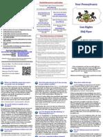 PA Open Carry FAQ Flyer
