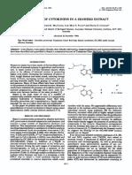 (1985) Detección de Citoquinina en Extracto de Alga