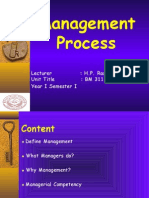 BM 311 Management Process Lession 1