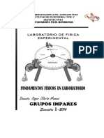 Trabajo Fisica Experimental I - Ingenierias Grupos Impares