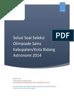 Solusi OSK Astronomi 2014