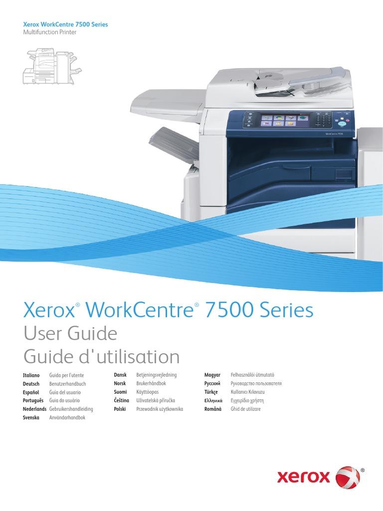 xerox workcentre 7535 users manual image scanner ac power plugs rh scribd com workcentre 7345 user manual Xerox 7345 Sale