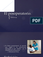 El Posoperatorio