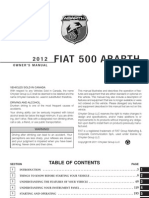 2012 FIAT 500 Abarth Owners Manual