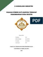 Tugas Peran SDM Dalam Industri (1)