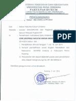 Penerimaan Mahasiswa Ekstensen Fakultas Hukum UNDANA tahun 2014