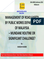 Management of Road Safety By Public Works Department of Malaysia